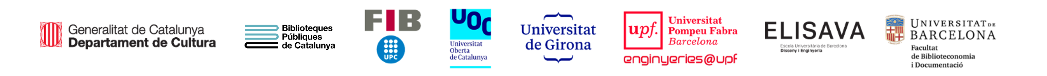 Logos entitats participants